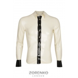 Mens Detailed Latex Shirt