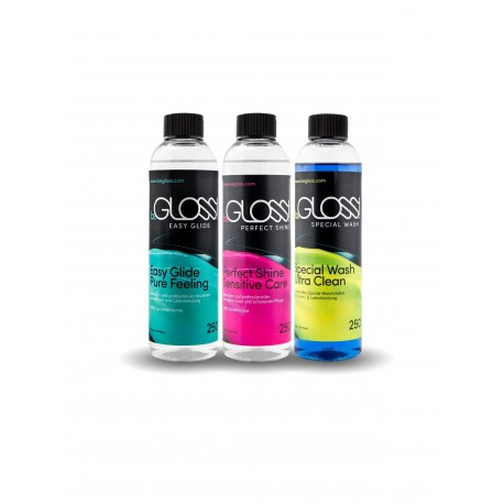 beGloss Latex Care Set: Perfect Shine - Easy Glide - Special Wash