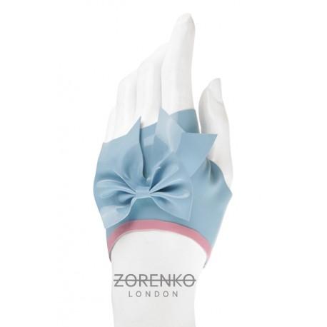 Fingerless Latex Bow Gloves