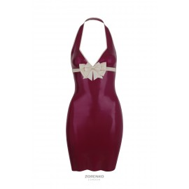 Latex Halterneck Bow Dress