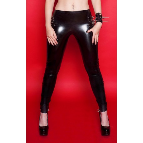 Spike Latex Leggings