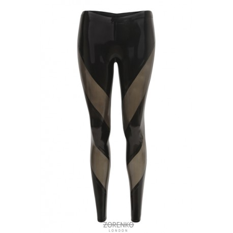 ONYX Paneled Latex Leggings