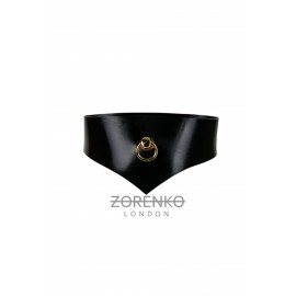 Onyx Latex Gold O-Ring Choker
