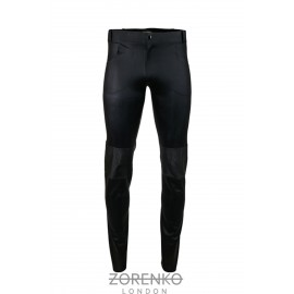 Men's Matte & Texture Latex Biker Jeans