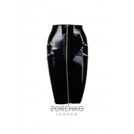 Latex High Waisted Peplum Skirt