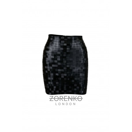 Latex High Waisted Mini Skirt