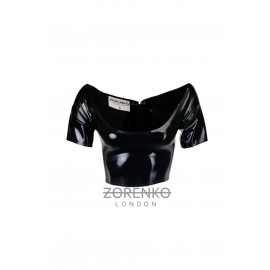Latex Bardot Top