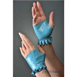 Fingerless Latex Gloves with Swarovski Crystals.