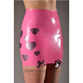 Latex High Waisted Mini Skirt