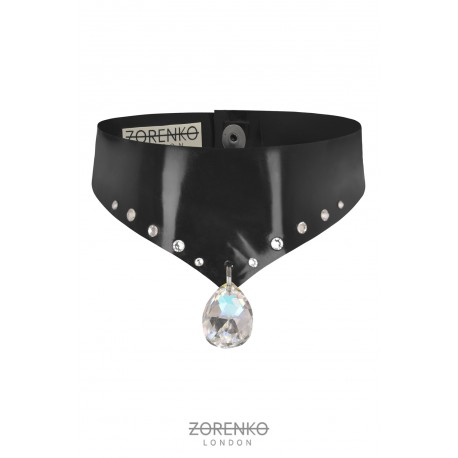 Latex Crystal Choker